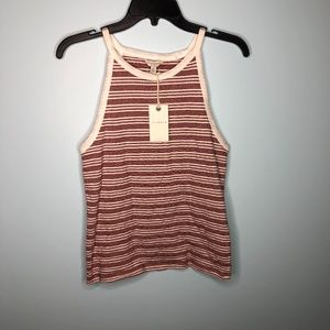 Lucky Brand Tank Top NWT Size Medium Red White